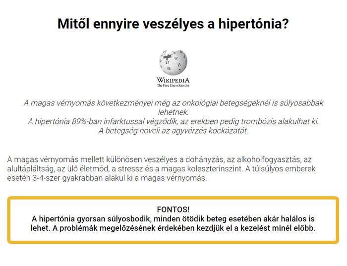 életmód hipertóniával alapvető szabályok