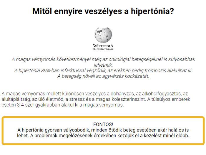 hipertónia a diákokban magas vérnyomás galagonya