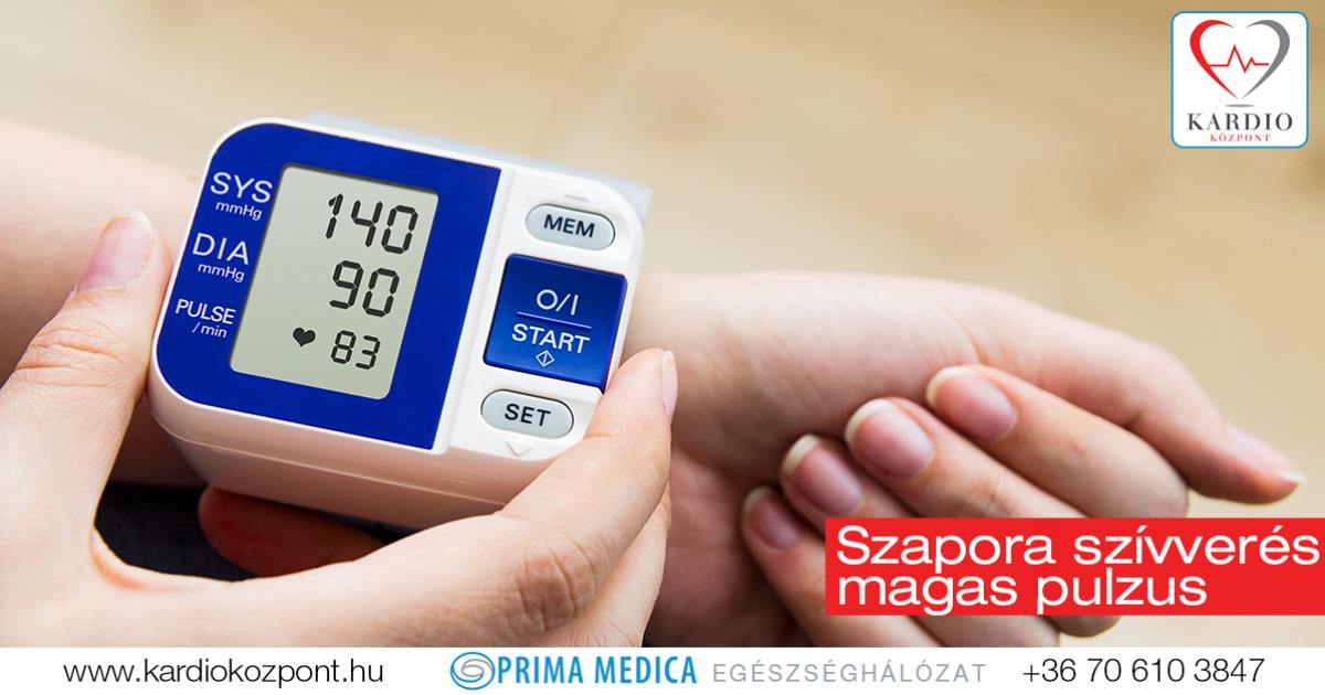 magas vérnyomás esetén a pulzus gyakori