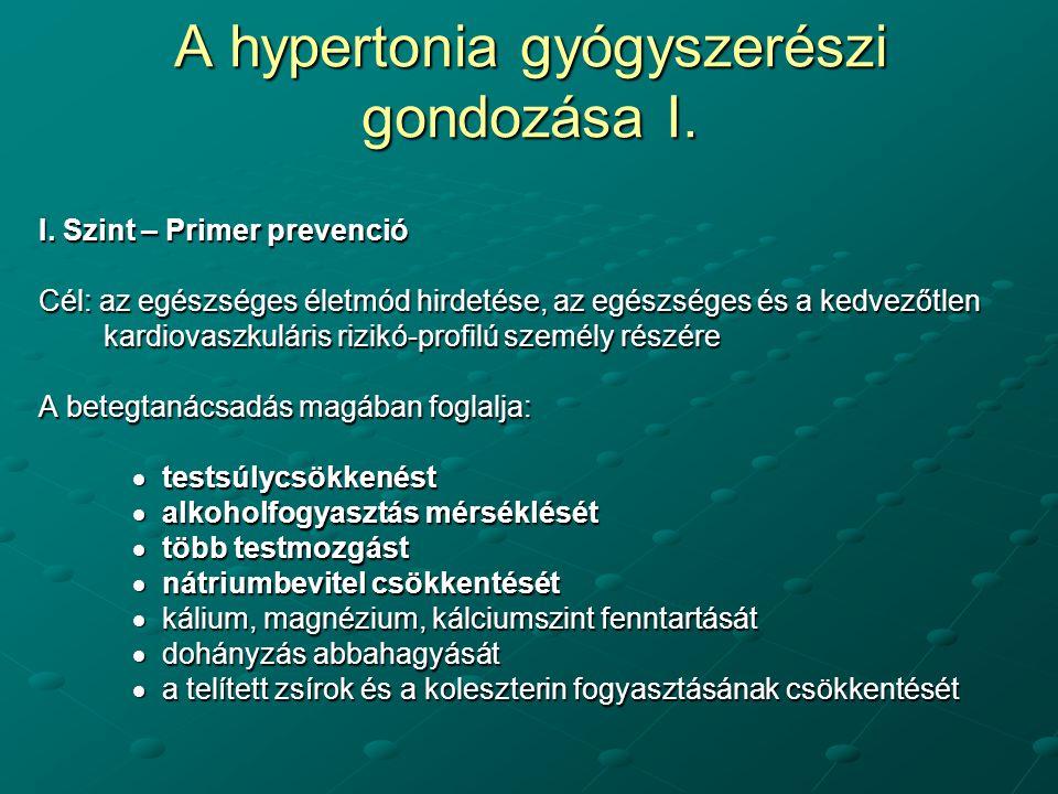 a hipertónia több szakasza