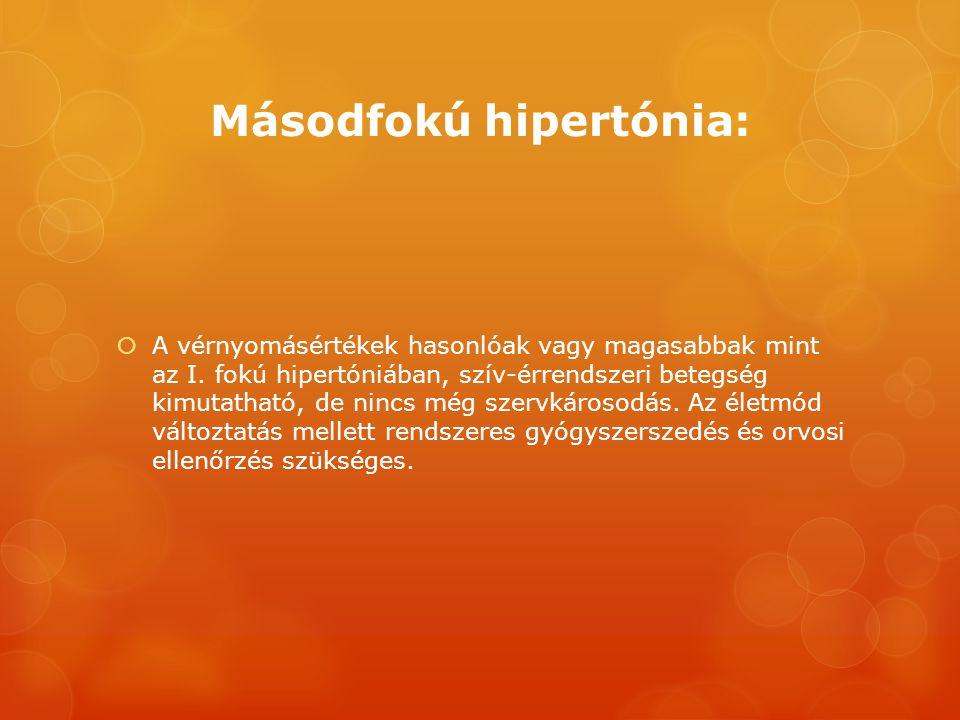 másodfokú hipertónia kockázata három amikor a magas vérnyomás hipotenzióvá válik