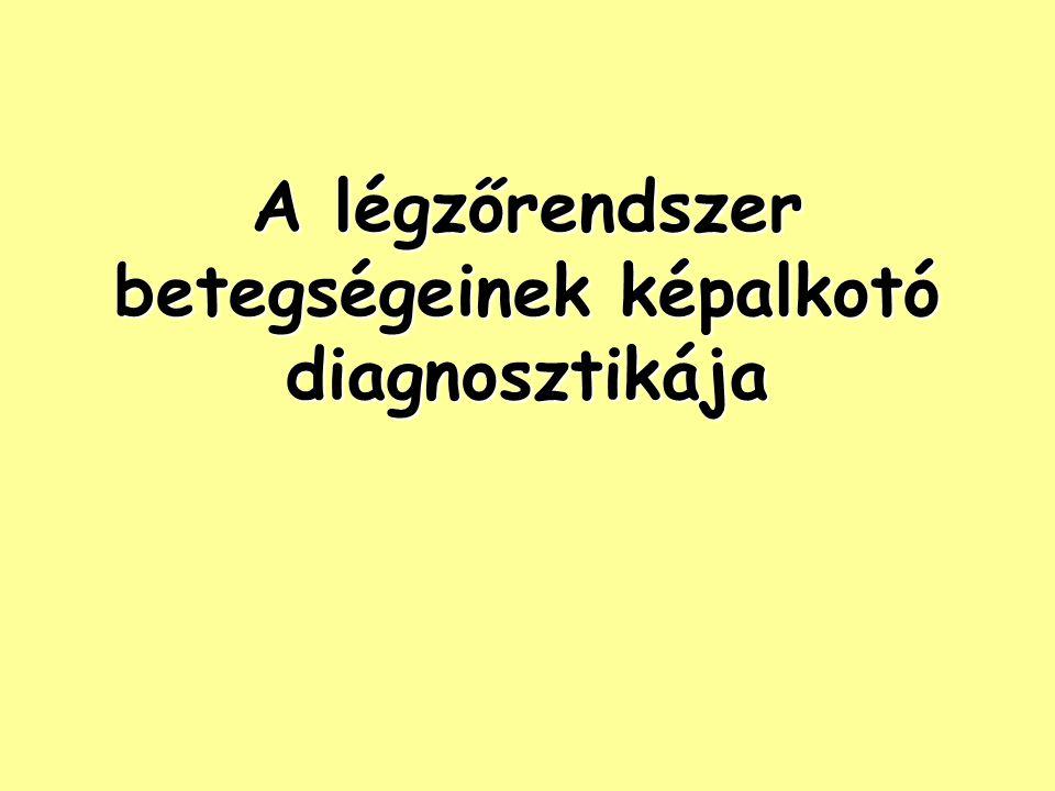 pulmonalis hipertónia a légzőrendszer betegségei esetén