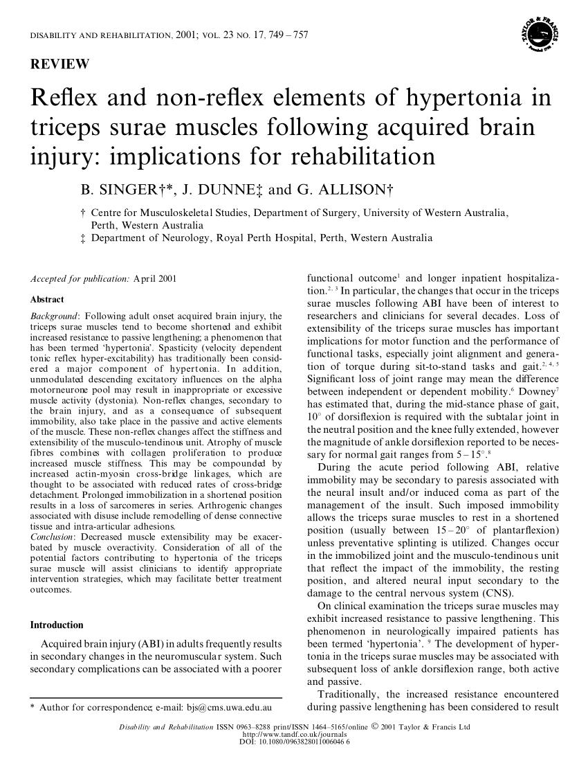 reflex hipertónia