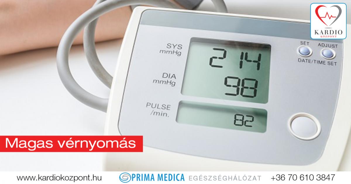 magas vérnyomás alacsonyabb nyomás